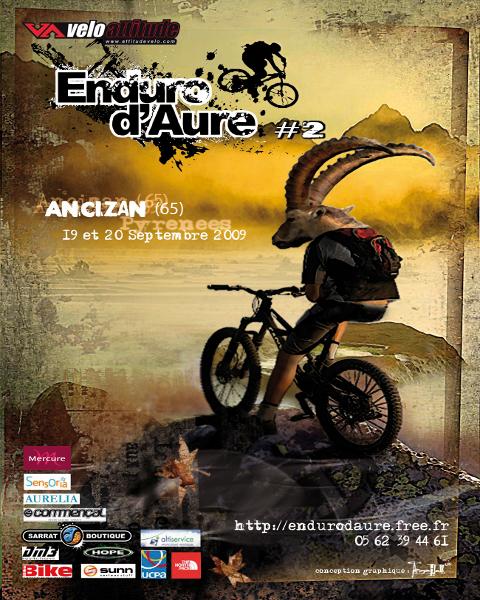 affiche de l'Enduro d'Aure